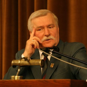 President Lech Wałęsa during inaugural ceremony of WEEC 2004