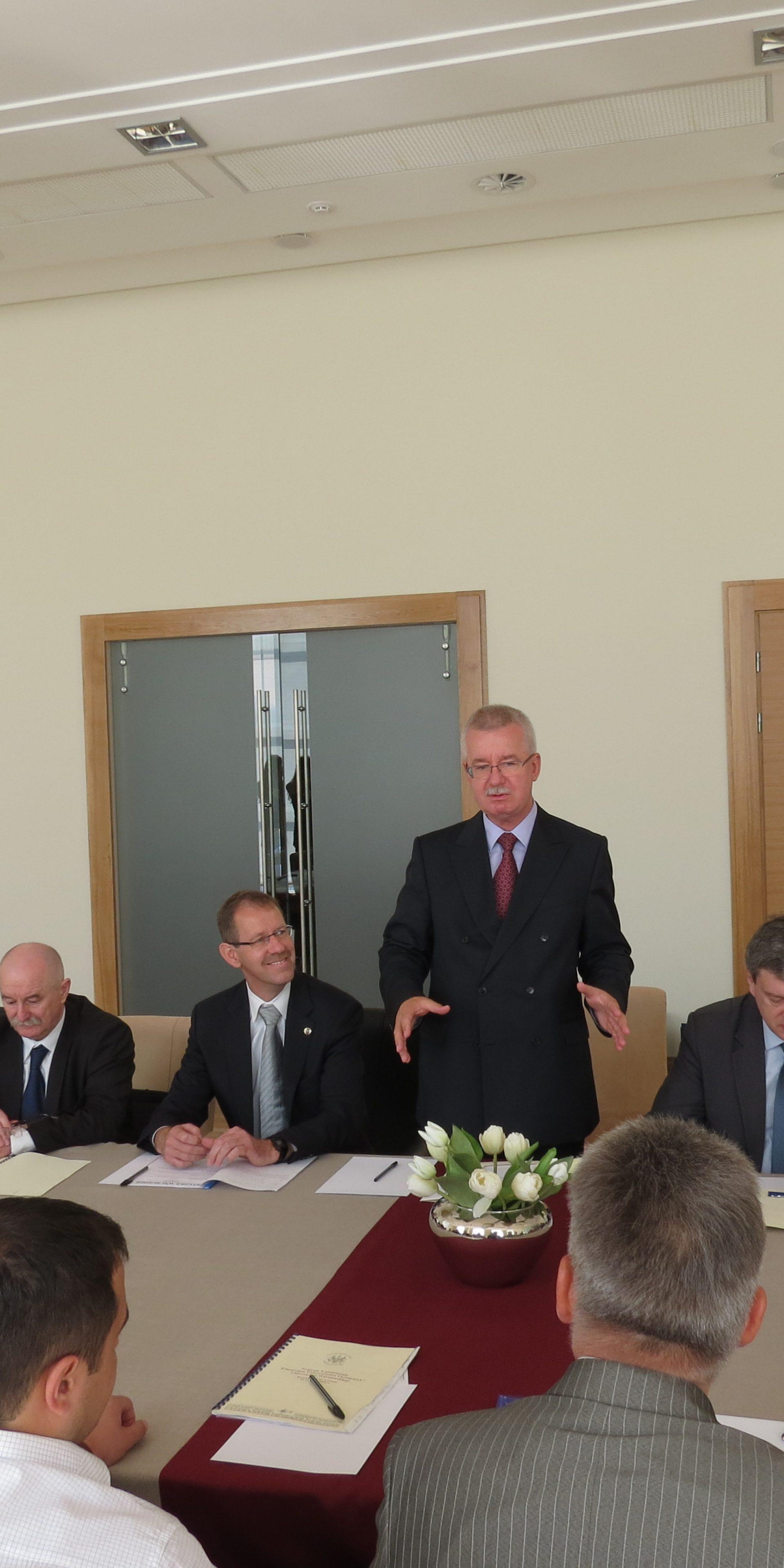 Powitanie Konsula Generalnego PR we Lwowie Jarosława Drozda