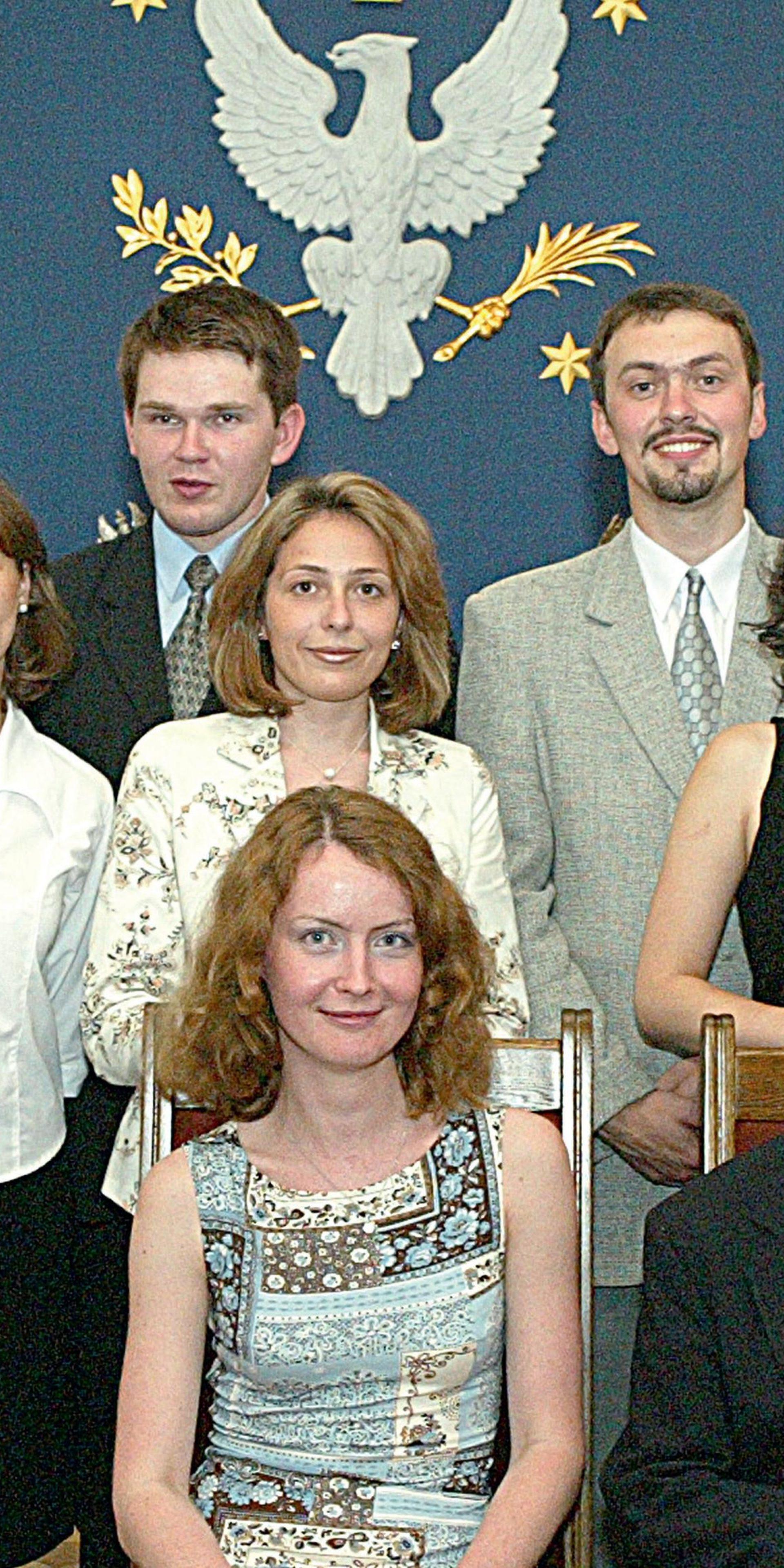 """Professor Świętochowski with """"Eastern Studies"""" student, 2001"""