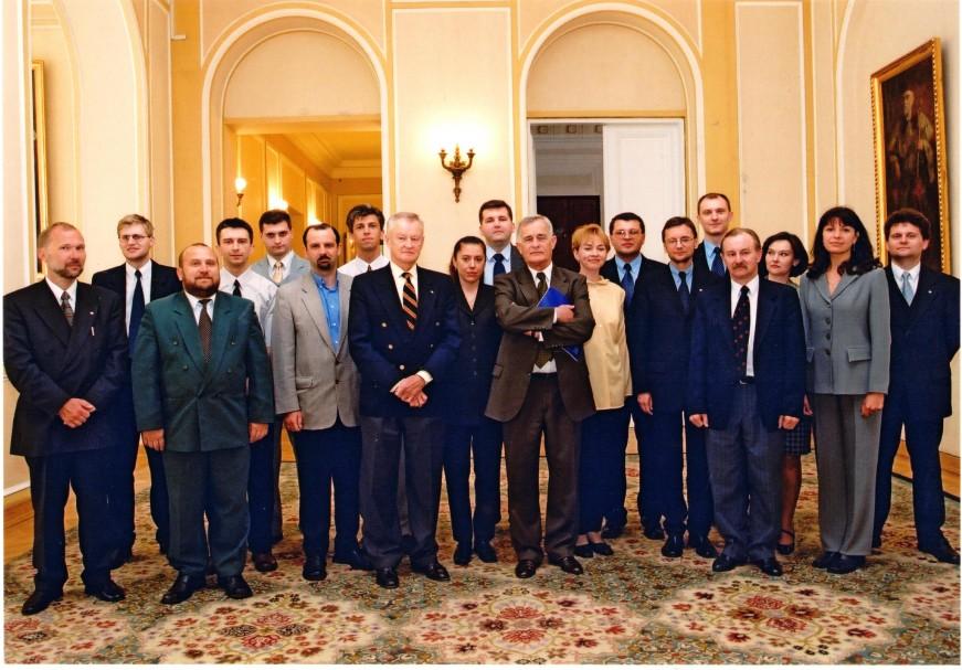 Zbigniew Brzeziński and recipients of L. Kirkland`s Scholarship Program, 2000